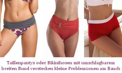 Bikinihosen bei kleinem Bauch