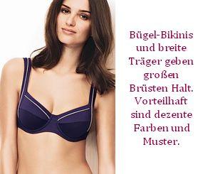 Bikinis für große Brüste