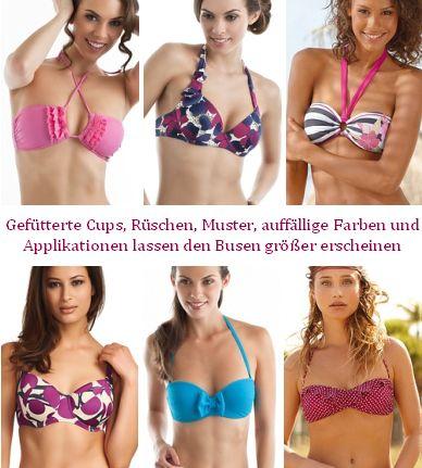 Bikinis für kleine Brüste