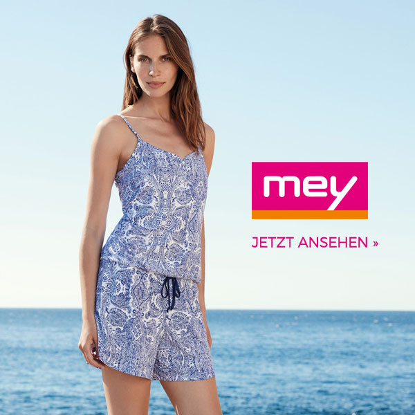 Mey jumpsuit playsuit blau-weiß
