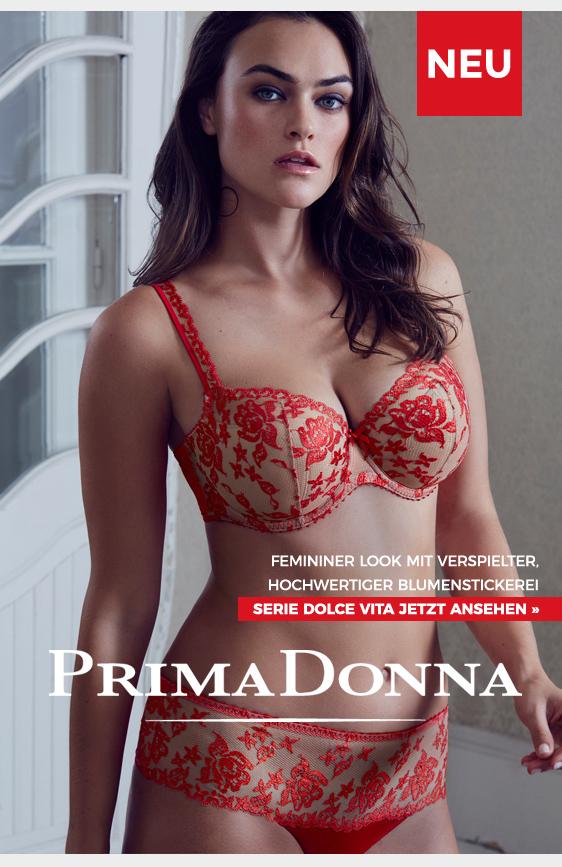 primadonna dolce vita femininer look in rot beige blumenstickerei