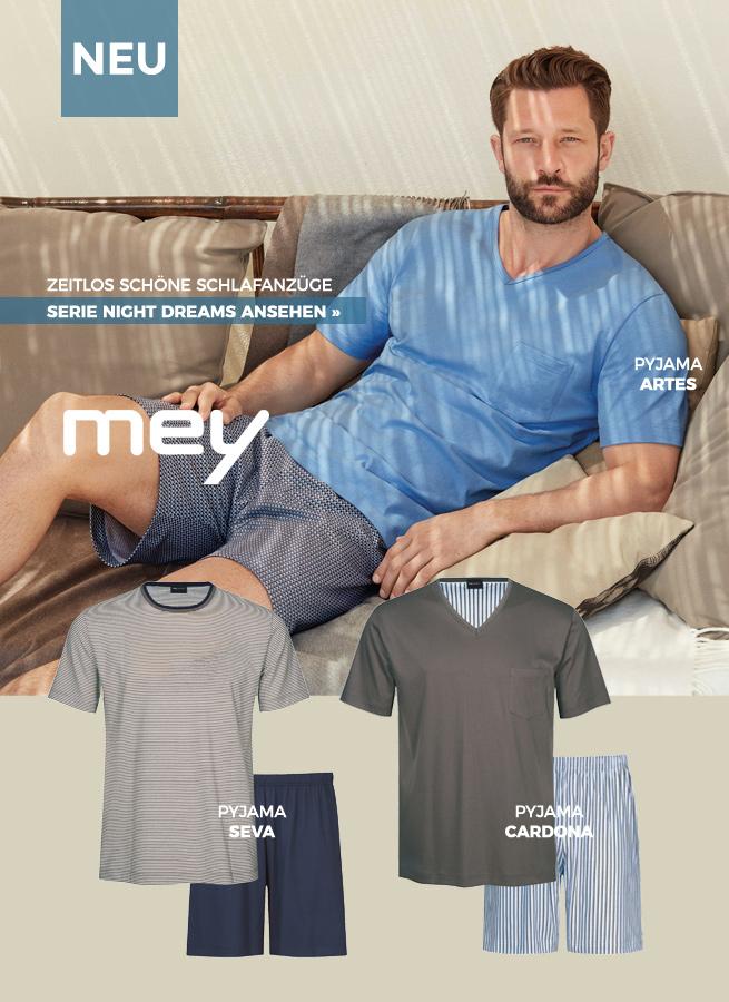 Mey Herren Kollektion Serie Night Dreams Baumwolle extra weich
