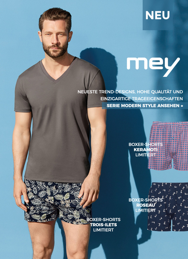 Mey Modern Style Boxer Shorts Trend Design Hohe Qualität