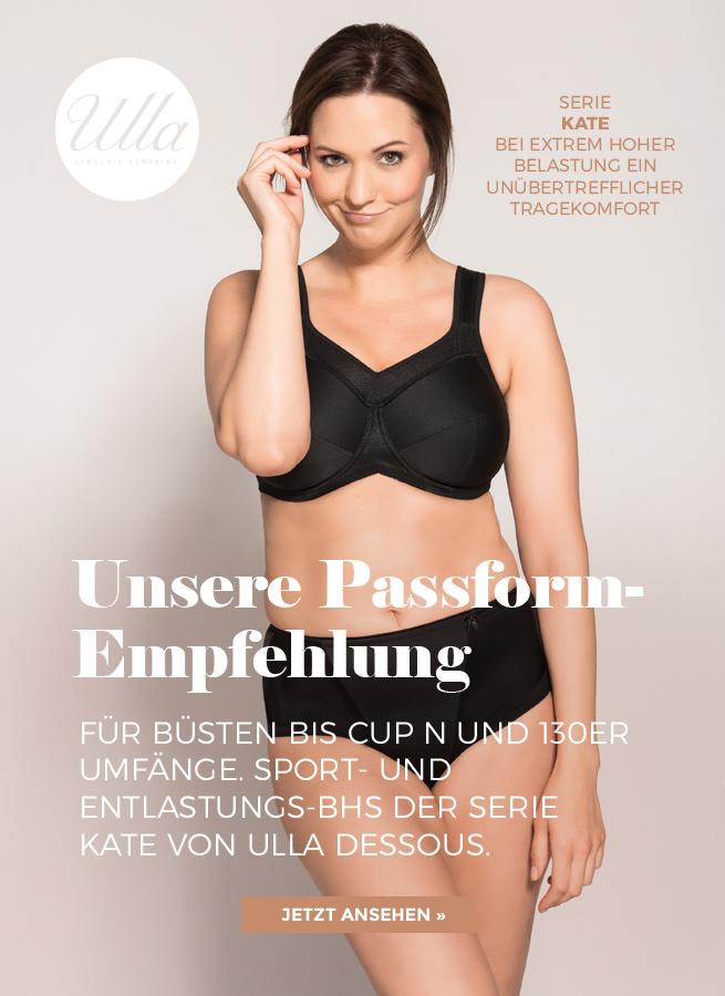 Serie Kate der Marke Ulla Dessous präsentiert Entlastungs-BH zum Wohlfühlen.
