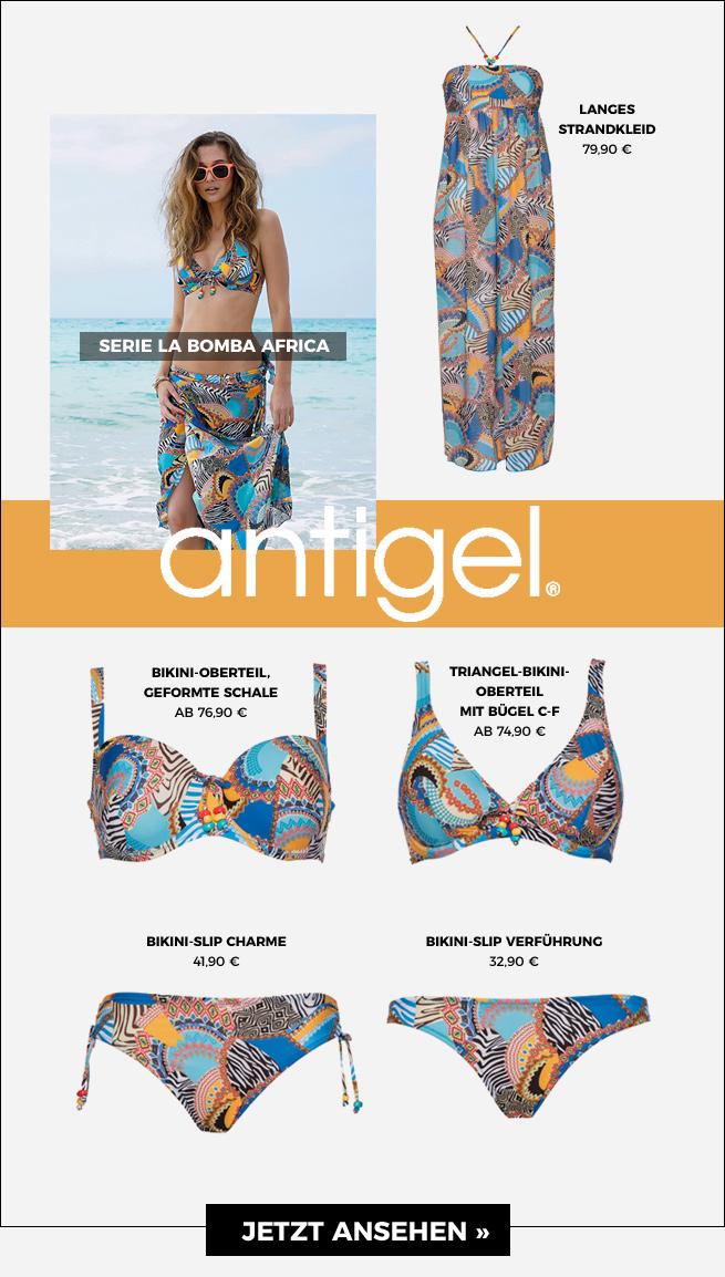 Bademode-Serie La Bomba Africa von Antigel mit einem traumhaften Mustermix jetzt ansehen!