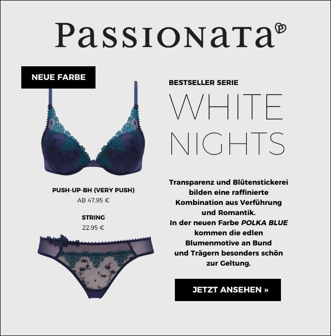 Passionata Serie White Nigts mit transparentem Tüll und Stickerei jetzt ansehen!