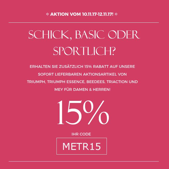 Aktion 15% Rabatt auf Aktionsartikel