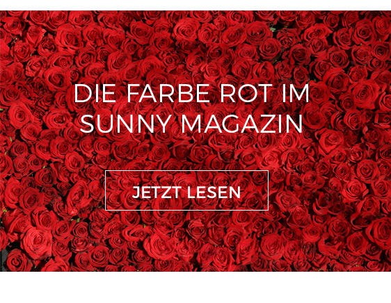 Farbe Rot im Sunny Magazin