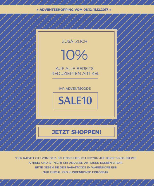 blog aktion advent 10% Rabatt auf sale