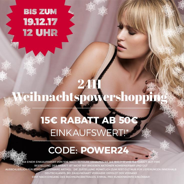 weihnachtspowershopping 15 Euro geschenkt!
