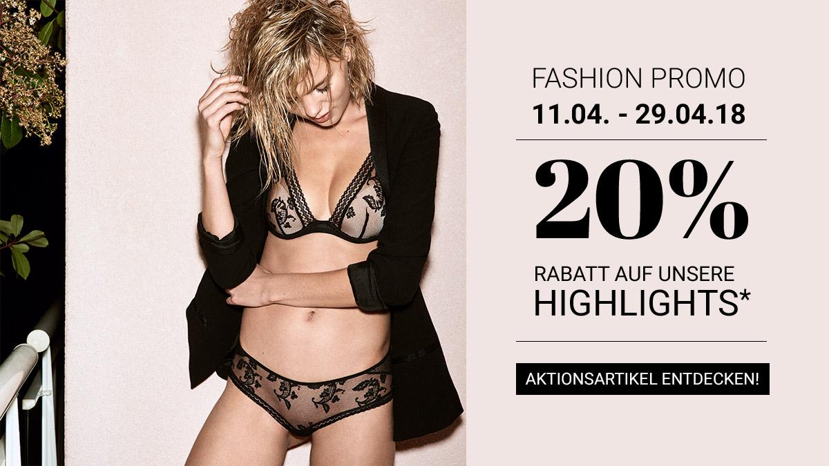 Passionata Aktion bei Sunny Dessous 20% Rabatt auf unsere Highlights