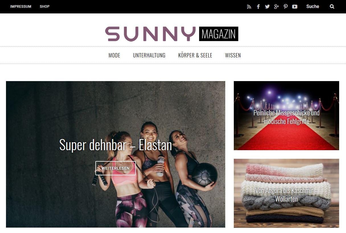 Sunny Magazin Startseite
