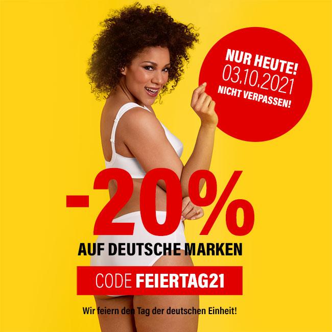 -20% auf deutsche Marken