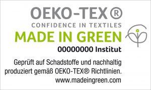 Logo made in green ökotex