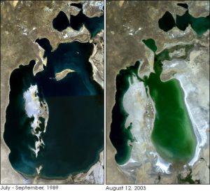 Aral-See: Vergleich 1989 und 2003