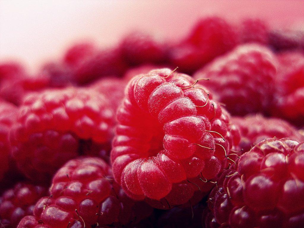 Rote Früchte - Himbeeren