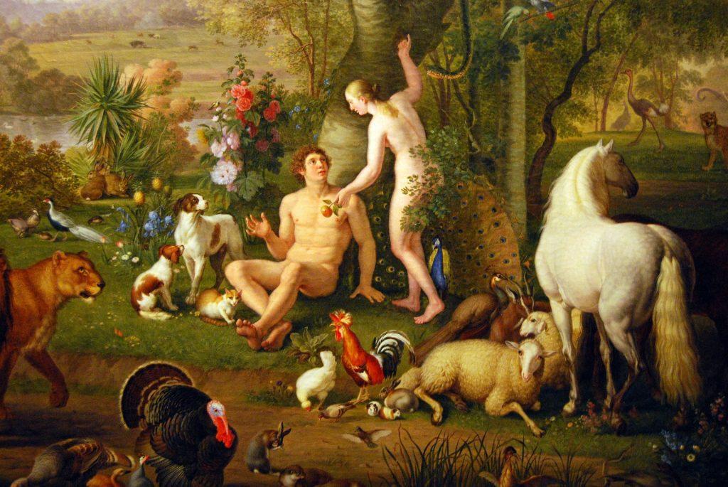 gemälde-malerei-adam-eva-schlange-apfel-versuchung-erotik-sex-verführung