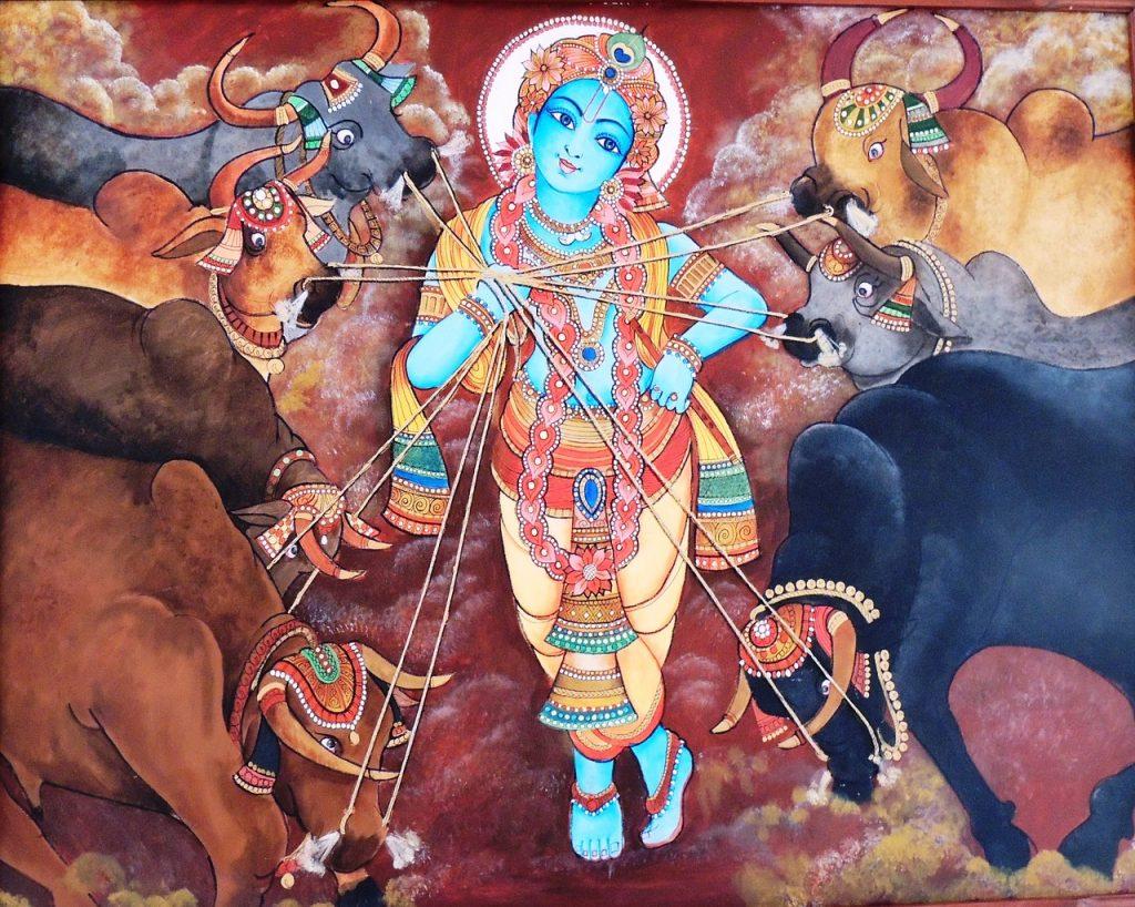 malerei-gott-krishna-haut-blau-hindu