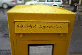 mailbox-briefkasten für liebesbriefe-post