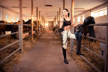 Fotoshooting und Interview mit Marie-Luise Schäfer (bekannt aus GNTM) als Reiterin