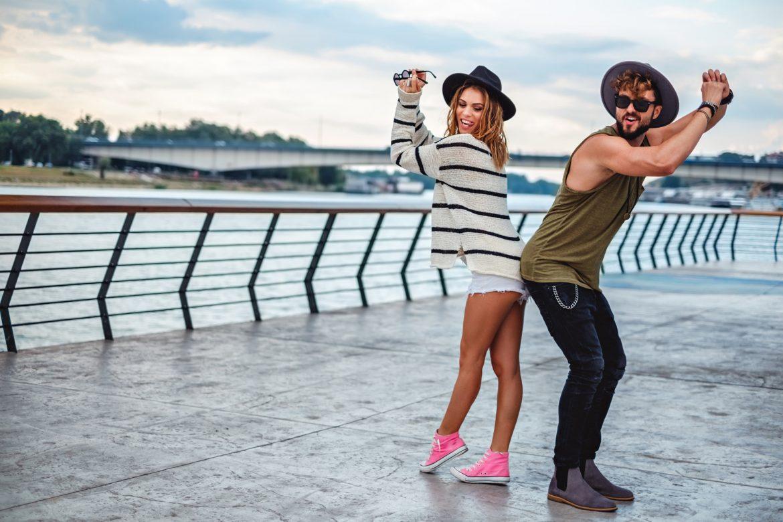 Hipster Pärchen im Urbanstyle