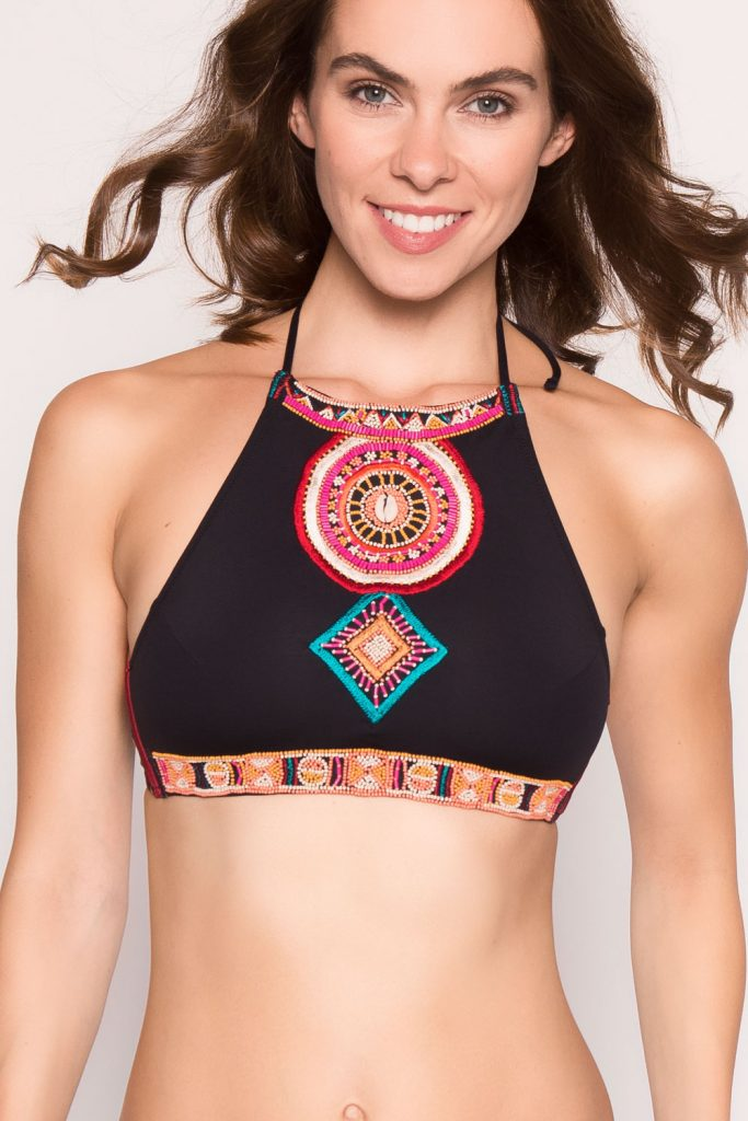 Native-Print Bikini im Massai-Design