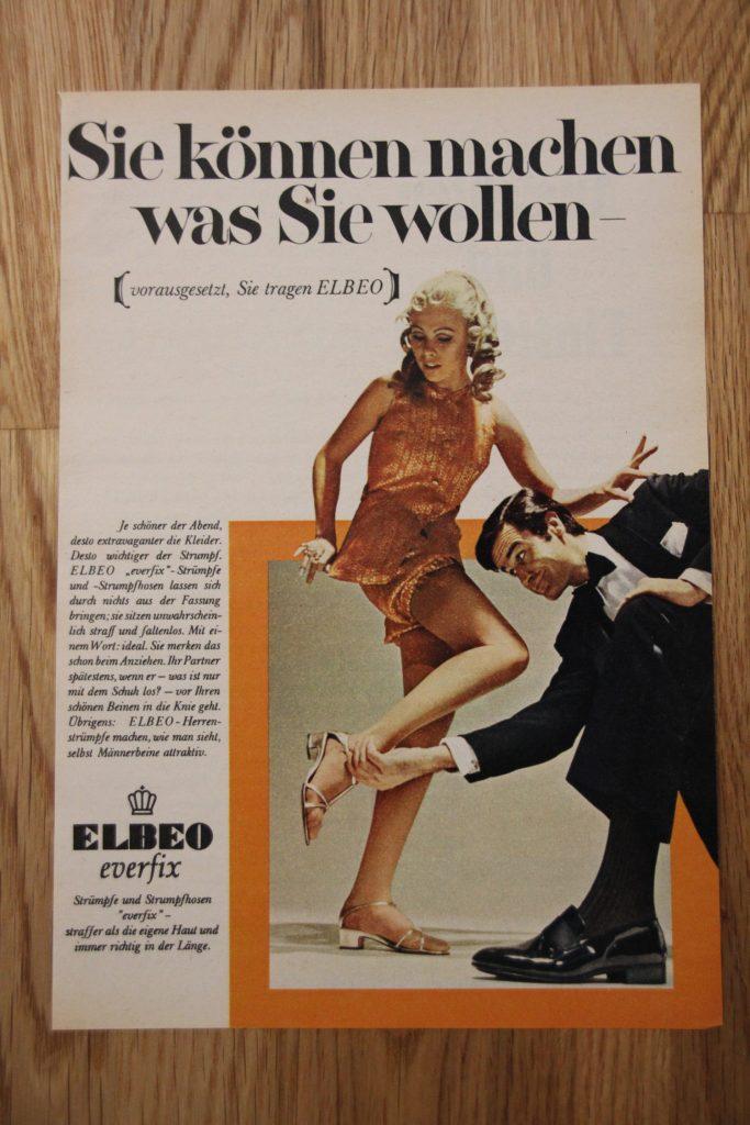 Historische Werbeanzeige von Elbeo