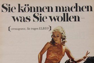 Historische Werbeanzeige von Elbeo, Detailansicht