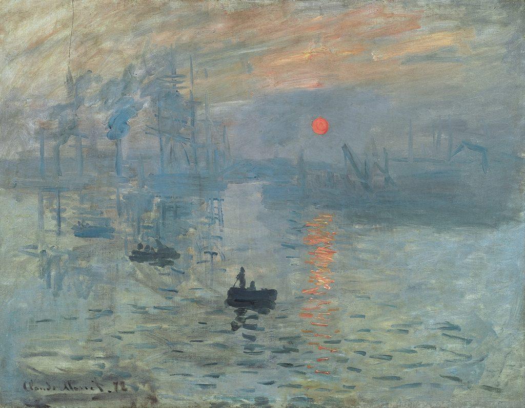 Impression, Sonnenaufgang, Claude Monet, 1872 gemeinfrei