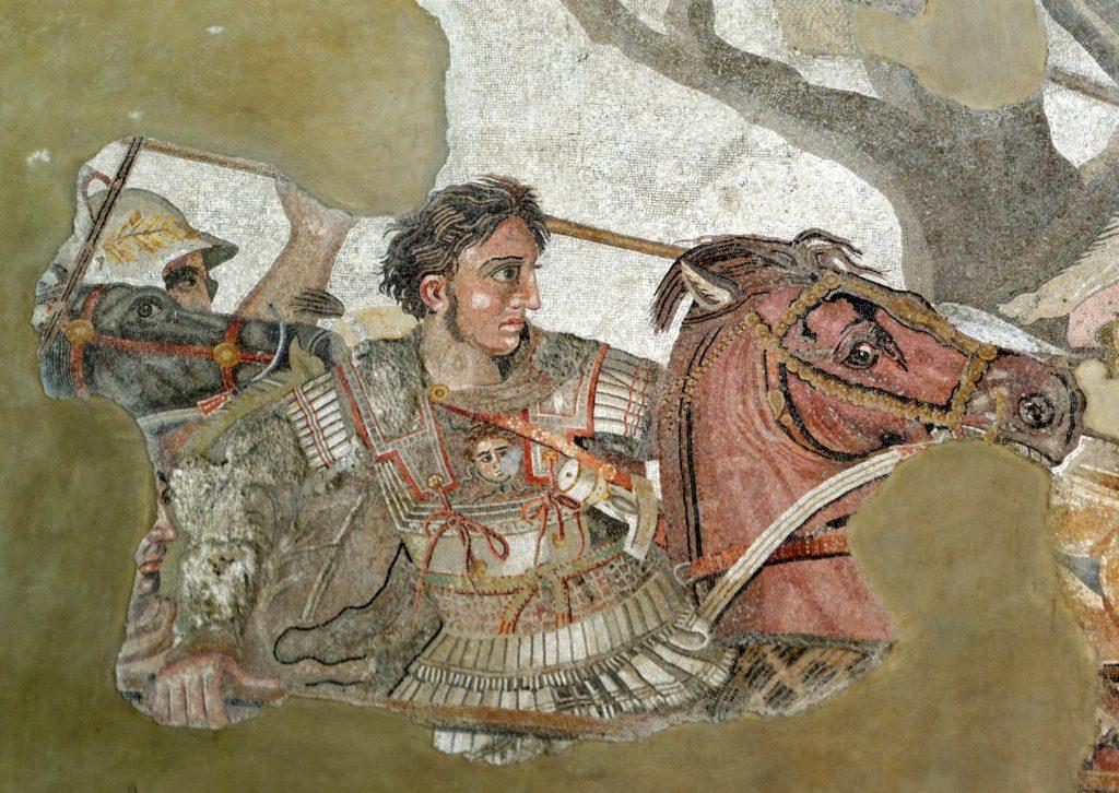Alexander der Große mit Leinenpanzer (Linothorax)