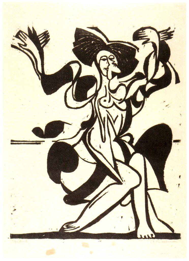 Ernst Ludwig Kirchner, Die Tanzende Mary Wigman