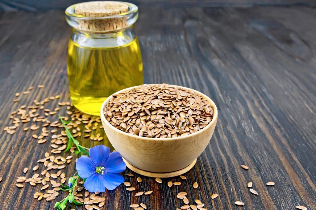 Leinsamenöl und Samen