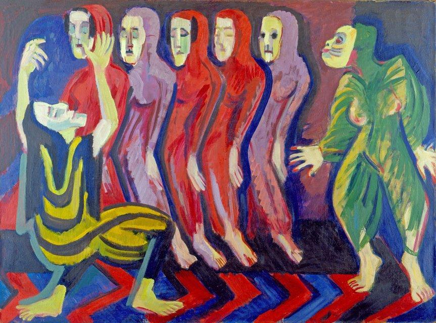 Totentanz der Mary Wigman von Ernst Ludwig Kirchner, 1926