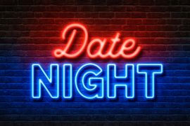 Neon Text Date Night