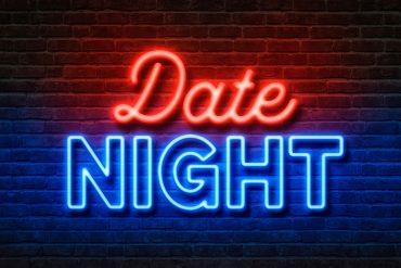 Neon Text Date Night