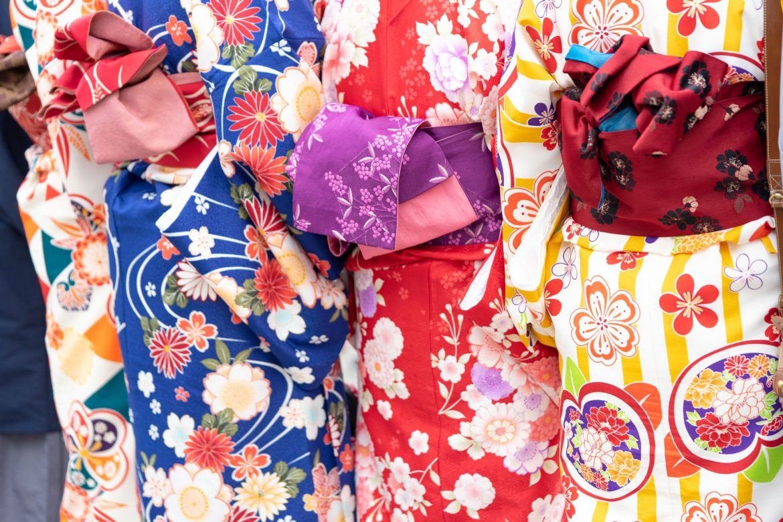 verschiedene Kimonos