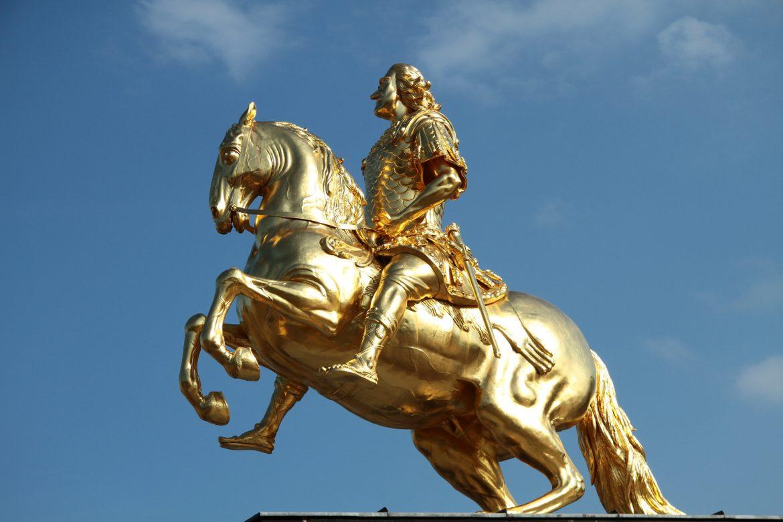 Der Goldene Reiter, die berühmte Statue von August dem Starken
